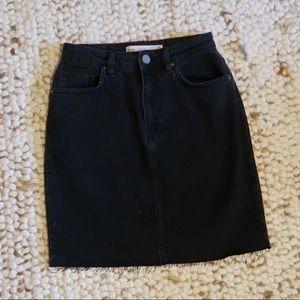 ASOS black denim mini skirt